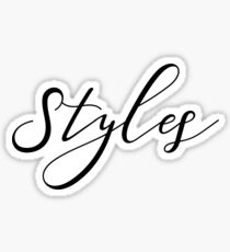 Styles. Sticker