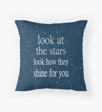 Coldplay Yellow Throw Pillow