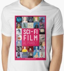 The Sci-fi Film Alphabet Men's V-Neck T-Shirt