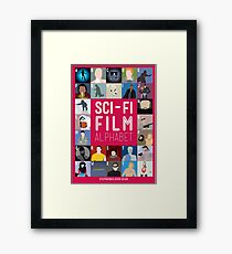The Sci-fi Film Alphabet Framed Print