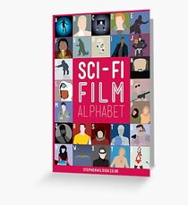 The Sci-fi Film Alphabet Greeting Card