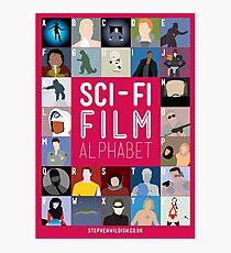 The Sci-fi Film Alphabet Photographic Print