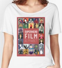 Superhero Film Alphabet Women's Relaxed Fit T-Shirt
