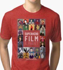 Superhero Film Alphabet Tri-blend T-Shirt
