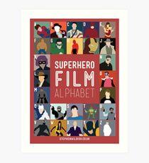 Superhero Film Alphabet Art Print