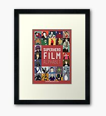 Superhero Film Alphabet Framed Print