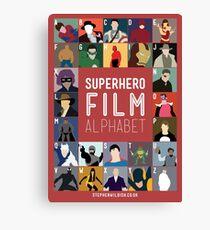 Superhero Film Alphabet Canvas Print
