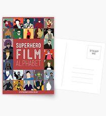Superhero Film Alphabet Postcards
