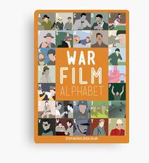 War Film Alphabet Canvas Print