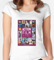 Action Film Alphabet Women's Fitted Scoop T-Shirt
