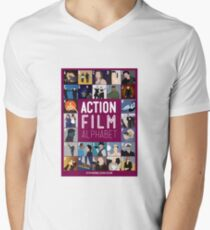 Action Film Alphabet Men's V-Neck T-Shirt