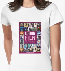 Action Film Alphabet Women's Fitted T-Shirt