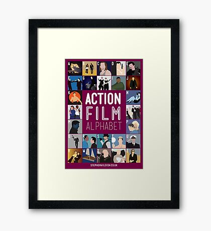 Action Film Alphabet Framed Print