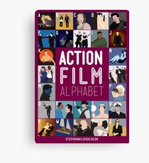 Action Film Alphabet Canvas Print
