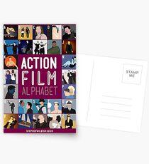 Action Film Alphabet Postcards