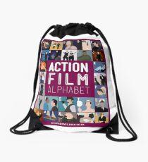Action Film Alphabet Drawstring Bag