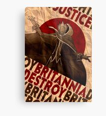 Code Geass   Lelouch Zero propaganda   Justice will prevail  Metal Print