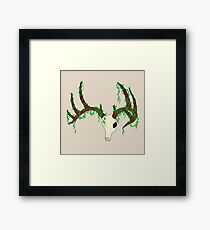Deer Skull - vines Framed Print