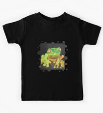 Red Eyed Tree Frog Vector Kids Clothes