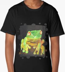 Red Eyed Tree Frog Vector Long T-Shirt