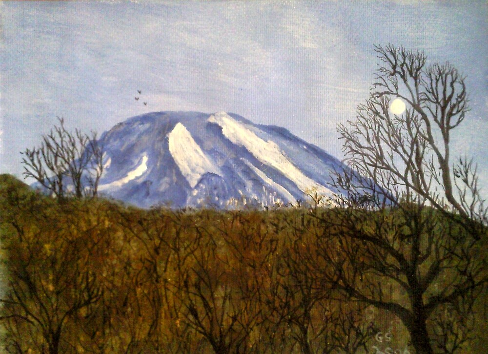 Killimanjaro by moonlight by GEORGE SANDERSON