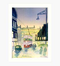Rainy night in Salford Art Print