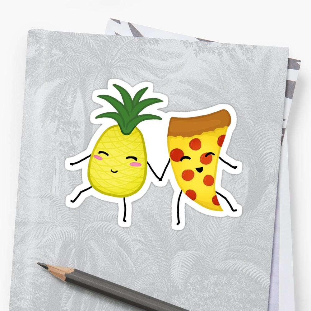 Pineapple + Pizza Sticker