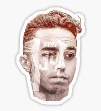 34 nouri ajax head sticker Sticker