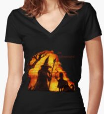 An Adventure?  Women's Fitted V-Neck T-Shirt