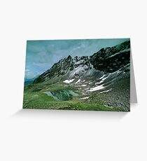 Morning snow at Hochjoch, Austria Greeting Card