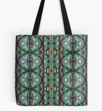 Woodland Mandala with Green Portals Tote Bag