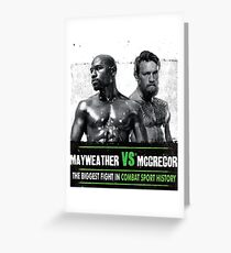 Money Fight McGregor Vs Mayweather Greeting Card