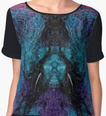 Time Machine Abstract Women's Chiffon Top