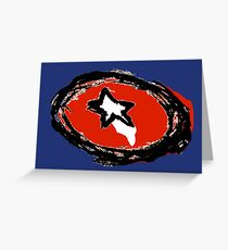 Minimalist American Hero Shield Greeting Card