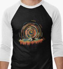 Camiseta ¾ bicolor para hombre La Geometría del Amanecer