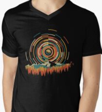 The Geometry of Sunrise Men's V-Neck T-Shirt