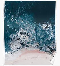 Ich liebe das Meer - geschrieben auf dem Sand Poster