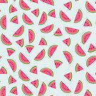 Pink Watermelon Pattern by Prettyinpinks