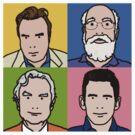 Four Horsemen 2013 - Hitchens, Dennett, Dawkins & Harris by Neil Davies