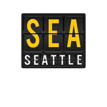 SEA - Seattle Airport Code by albertellenich