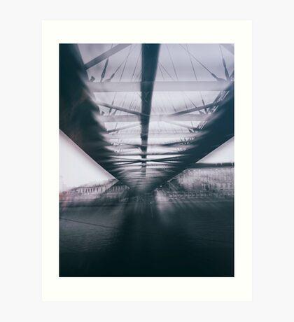 street photo Bridge #street #streetphoto Art Print