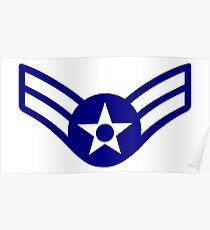 AIR FORCE, AIRMAN, FIRST CLASS, USA, US, America, American Poster