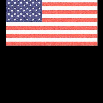 American Flag, Faded Flag, Stars & Stripes, USA, Old Glory, The Star-Spangled Banner, America, Americana, USA, ON BLACK by TOMSREDBUBBLE