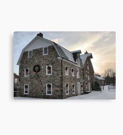 The Grist Mill and Ye Old Tavern Canvas Print
