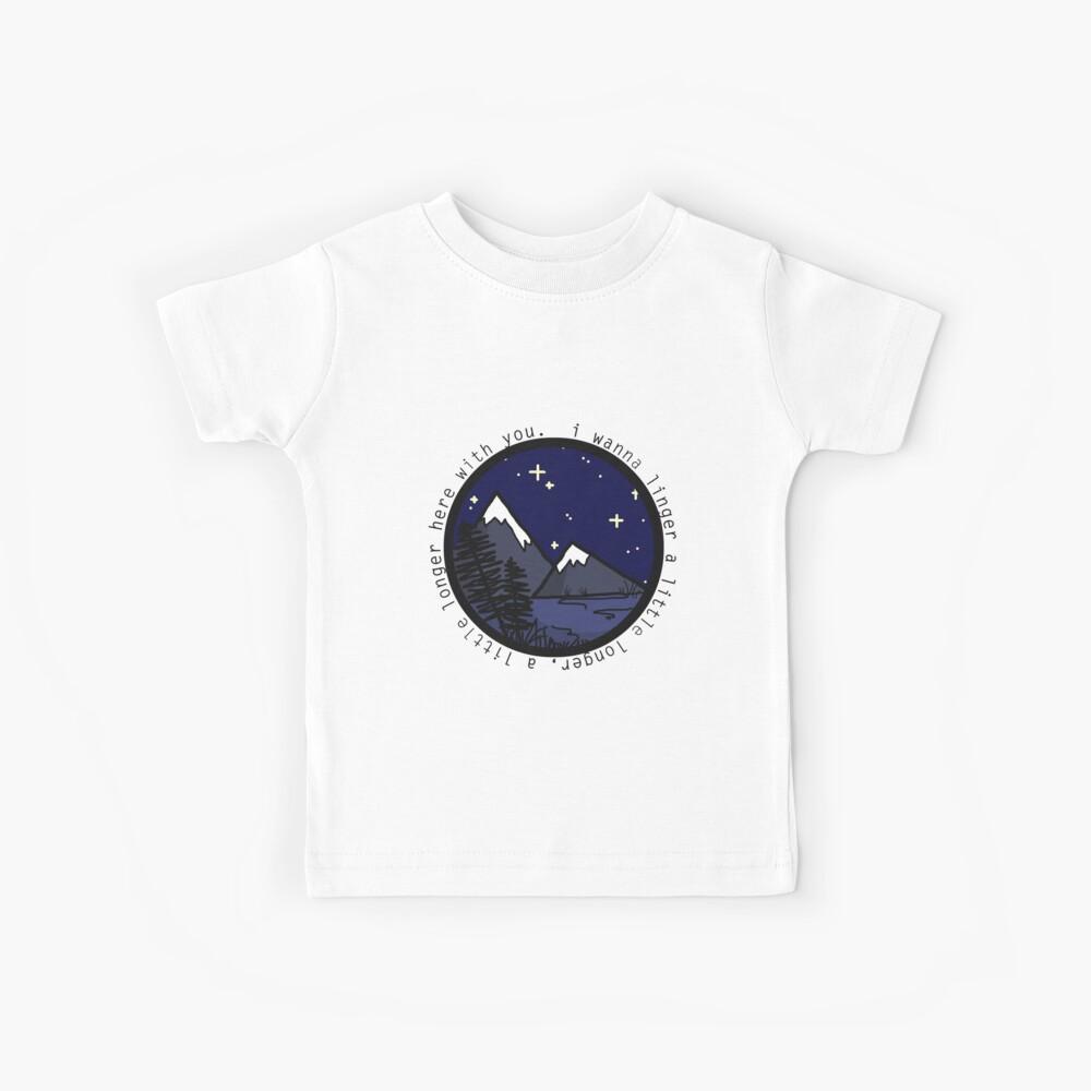 Ich möchte Natur Silhouette (leichtere Version) verweilen Kinder T-Shirt