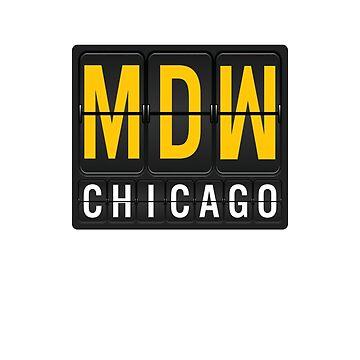 MDW - Chicago Midway Airport Code by albertellenich