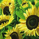 Sunflower Patch by John Wallie