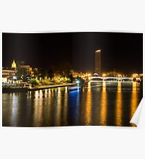 Seville Night Magic - Triana Bridge and the One and Only Skyscraper Poster