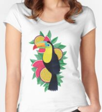 Tropical toucan Women's Fitted Scoop T-Shirt
