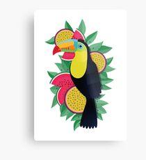 Tropical toucan Metal Print